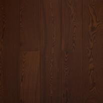 Массивная доска Ясень Тёмный Шоколад